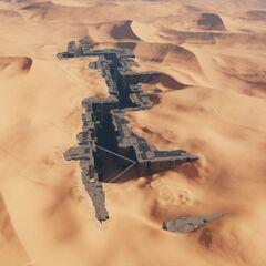 沙漠掩蓋着神殿