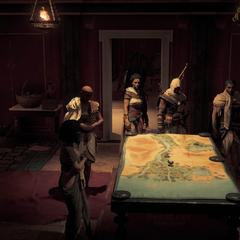 Gathering at Apollodorus' estate