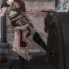 Ezio pénétrant dans la tanière