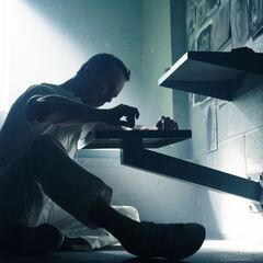 Callum tekent in zijn cel