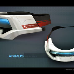 A headset designed for use with the Animus Omega