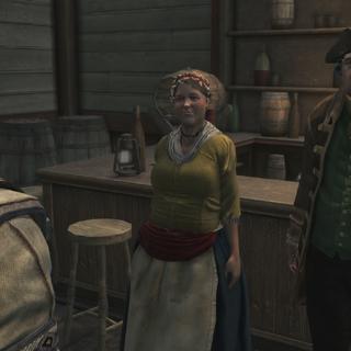 Corrine et Oliver à l'auberge.