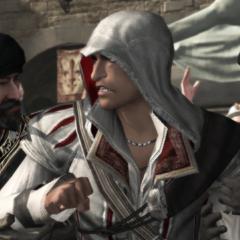Les gardes maîtrisant Ezio