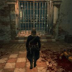 Edward se rendant dans la cellule du Sage
