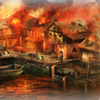 The docks of Tyre aflame