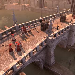 横跨台伯河的圣天使桥