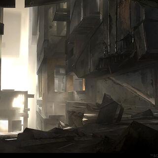 Concept art van de ondergrondse Tempel.