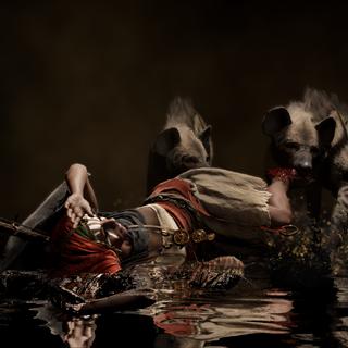 Khaliset dévorée par ses hyènes