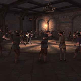 Le sous-sol des <b>baraquements</b> avec les combats