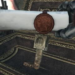 Ezio récupérant le Parchemin de Romulus