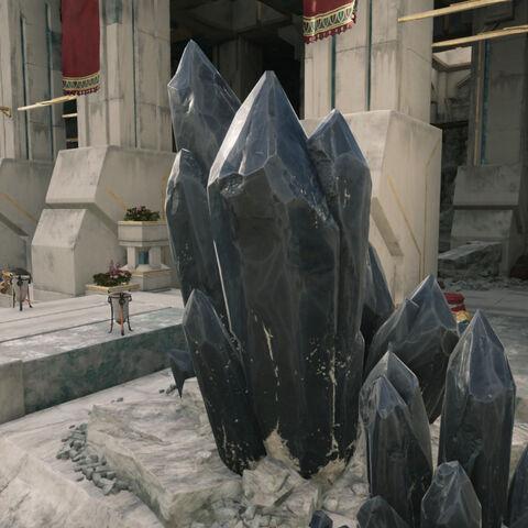 矿场里的刚金晶体