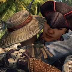 Aveline bidding her mother goodbye