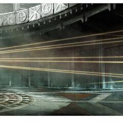 Concept-art d'Ezio ouvrant le <b>Sanctuaire</b>