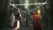 Ezio e Leonardo al tempio
