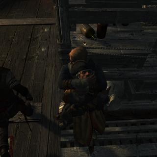 爱德华迅速了结了一名守卫