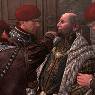 Egidio wordt aangevallen door de wachters.