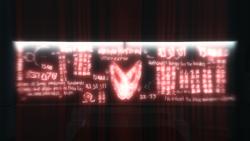 Simboli sangue stanza laboratorio Abstergo