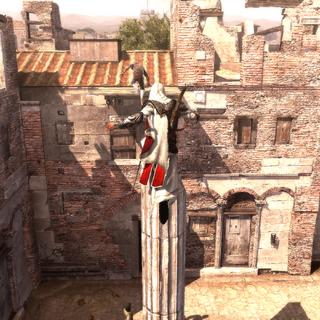 Ezio suivant le voleur