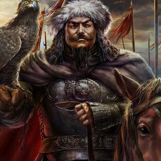 忽必烈身着蒙古盔甲