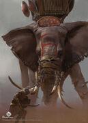 ACO War Elephant Concept Art