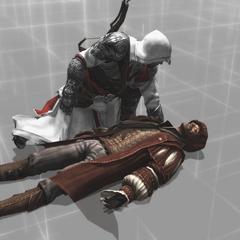 Gaspar vlak voor zijn dood.
