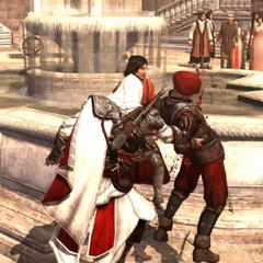 Ezio protégeant Copernic