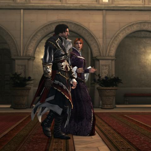 Caterina faisant appel à l'aide d'Ezio