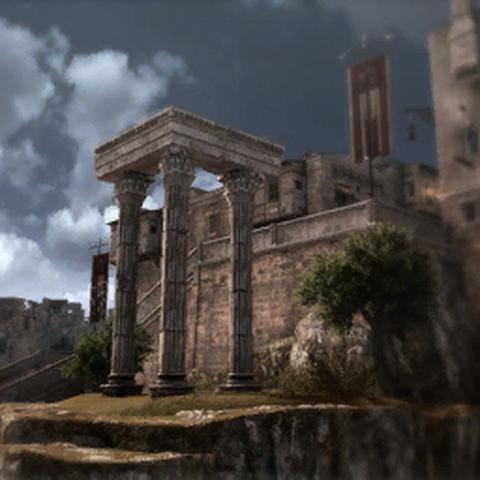 Le <b>temple de Vespasien</b> dans la <a href=