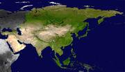 Asia satellite plane shaded