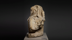DTAE Marble statue of draped man