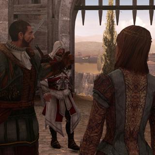 Ezio et Bartolomeo rentrant vainqueurs aux baraquements