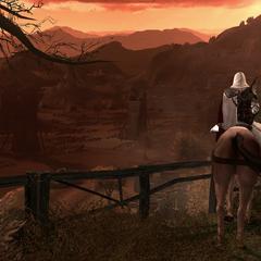 Ezio arrivant à Viana