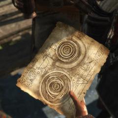 基德拿著观测所环形球仪的草图