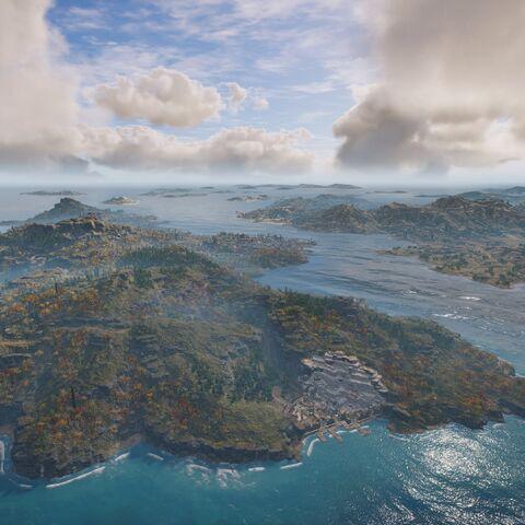 阿班提斯群岛,斯基罗斯岛在优卑亚岛的左后方