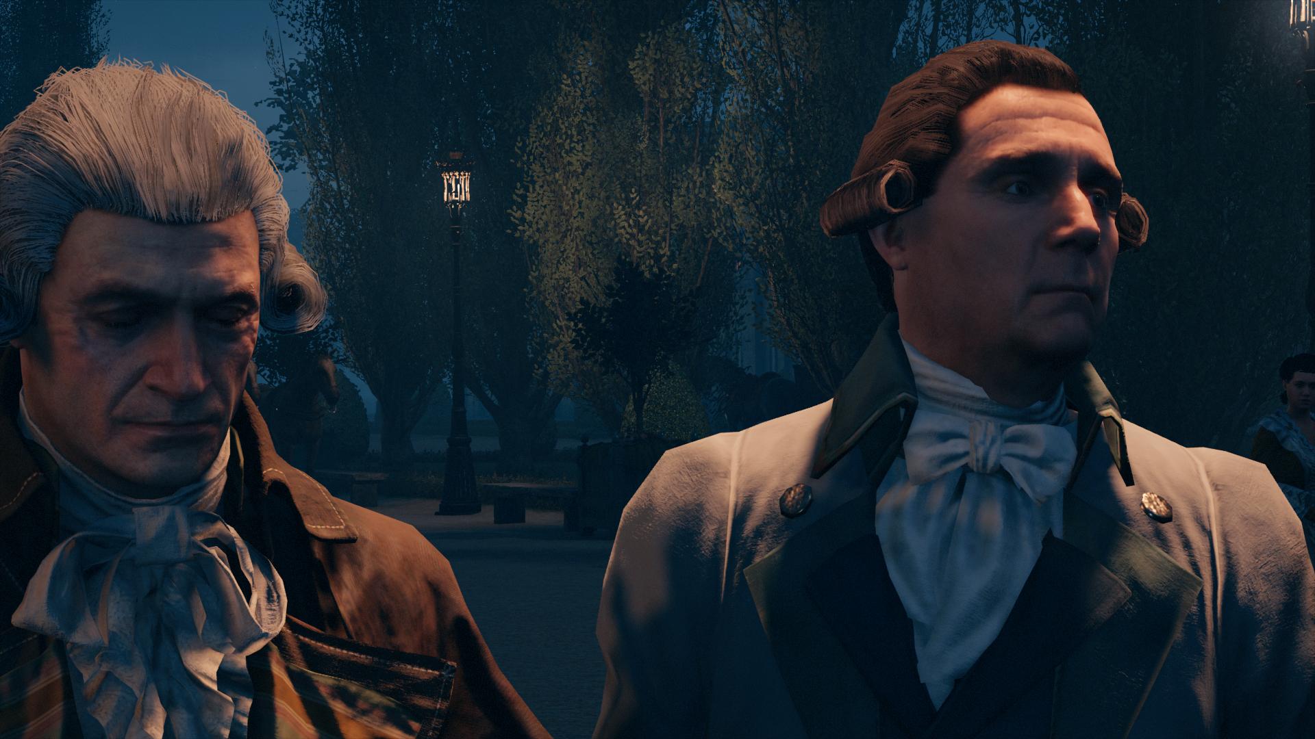 Robespierre entrando en el Palacio de Versalles. Imagen del juego Assassin's Creed: Unity.