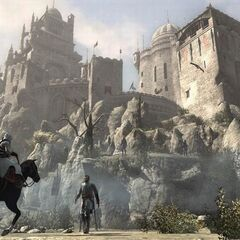 Altaïr returning to fortress, after failing his mission