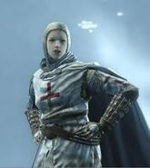 Maria in uniforme Templare