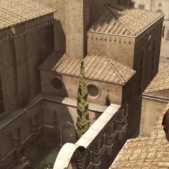 La Volpe vertelt Ezio over de doorgang.