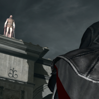Ezio s'adressant au noble