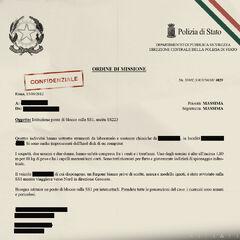 The roadblock order at Grosseto, Italy.