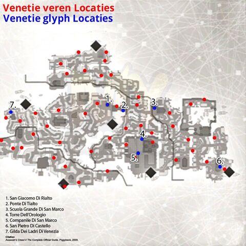 Venetië-tekenkaart.