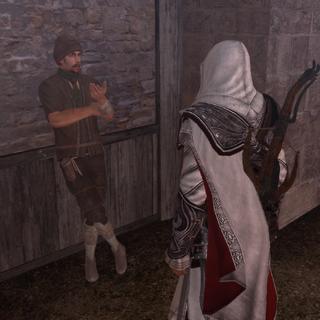 Le voleur demandant l'aide d'Ezio