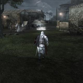 Ezio traversant la Romagne au pas de course