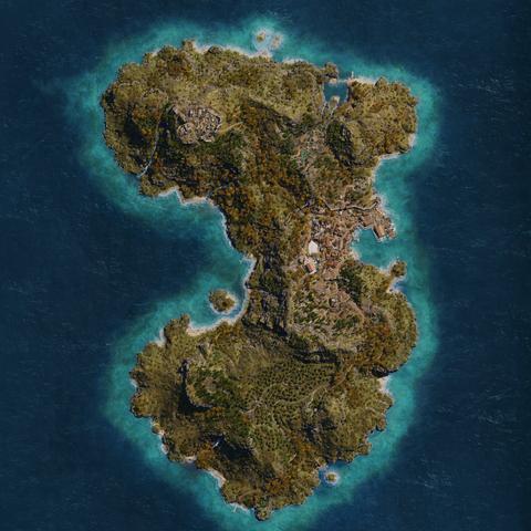 希俄斯岛的地图