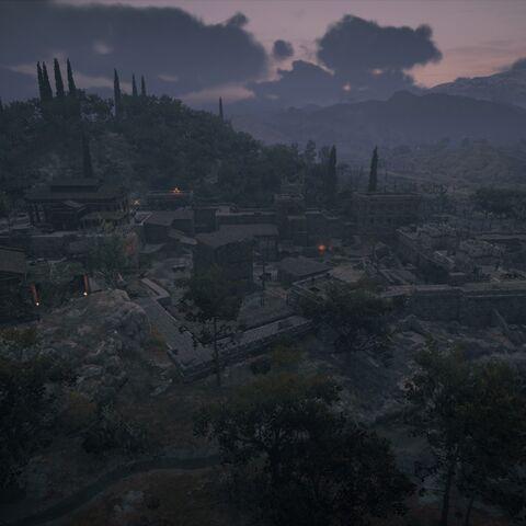 夜晚的普拉提亚要塞
