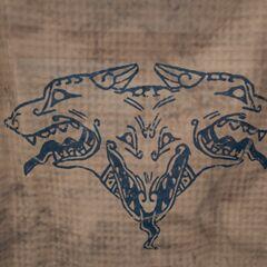 <i>阿德瑞斯提亚</i> 号上的地狱三头犬纹饰