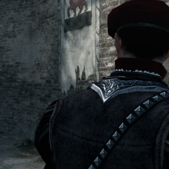 De wachters zien Ezio.