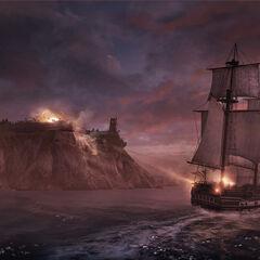 L<i>Aquila</i> bombardant Fort Wolcott