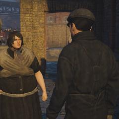 阿格尼丝与一个熟人对话
