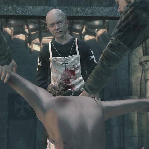 加尼耶望着他的病人